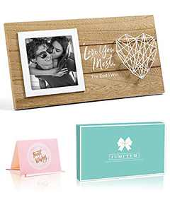Wedding Gifts for Couples Anniversary Gifts Romantic Picture Frame Gifts for Boyfriend Girlfriend Gifts Photo Holder Engagement Gifts for Couples