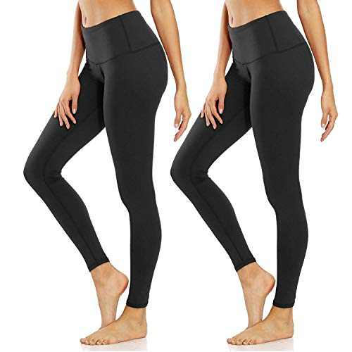 YOLIX Buttery Soft Leggings for Women- Pack High Waisted Slim Stretch Yoga Workout Training Leggings