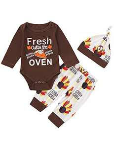 Happidoo Fresh Outta The Oven Bodysuit Infant Turkey Outfit (Brown,3-6 Months)