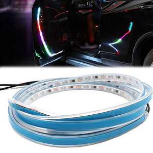 Car Door LightsStrip - 2 PCS 47 inch Flashing Warning Strip Light 60 LED 5050 SMD Auto Door Opening Warning Strobe Lamp Streamer Anti-Collision Light Bar (Multicolor)
