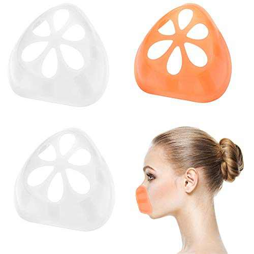 Silicone Mask Bracket 3D Bracket for Face Mask Inner Support Frame Silicone Bracket for Comfortable Mask Wearing, 3 Pack