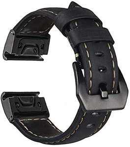 Fenix 6X/5X Plus Band Genuine Leather Quick Fit 26mm Watch Bands Compatible for Garmin Fenix 6X/6X Pro/5X/5X Plus/3/3HR Smartwatch