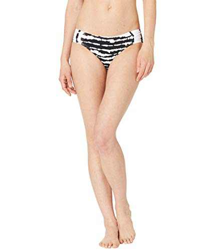 La Blanca Women's Standard Side Shirred Hipster Bikini Swimsuit Bottom, Black/White//Elemental, 10