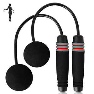 APLUGTEK Jump Rope, Weighted Cordless Jump Ropes for Exercises, Tangle-Free Jumping Rope for Men Women and Children-Adjustable