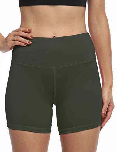 High Waist Workout Biker Yoga Shorts Athletic Running Tummy Control Short Pants with 3 Pockets for Women DeepGrey-XL