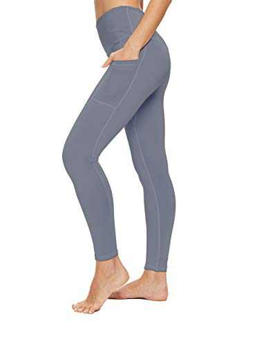 OXZNO High Waisted Yoga Pants for Women Lightweight Workout Running Compression Leggings with Pocket for Women(Light Blue,M)