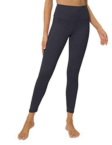 High Waisted Workout Yoga Pants Athletic Running Tummy Control Leggings with 1 Hidden Waistband Pocket for Women Deep Grey-XL-CL210W