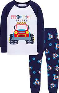 Boys Christmas Monster Trucks Pajamas Toddler Kid Cotton PJs Girls Pants Clothing Set Sleepwear 3t