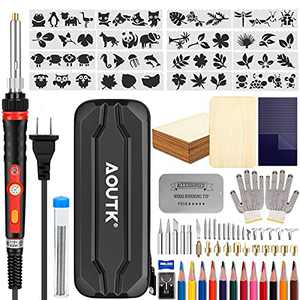 84pcs Wood Burning kit, Professional WoodBurning Pen Tool, DIY Creative Tools Adjustable Temperature 392°F-842°F,Wood Burner for Embossing/Carving/Pyrography,Suitable for Beginners,Adults,Kids