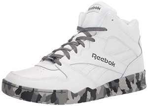 Reebok Men's BB4500 Hi 2 Sneaker, White/Cold Grey, 10 Wide