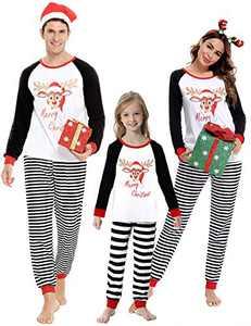 Doaraha Family Christmas Pajamas Set Matching Xmas Sleepwear PJS Dad Mom Lounge Set Nightwear Pajama Collection