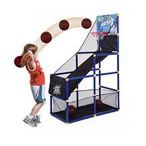 US Fast Shipment Kids Basketball Hoop Arcade Board Game Toy - Toddler Toys Outdoor/Indoor Basketball Hoop Shooting Training System with Basketball for Boy Gift