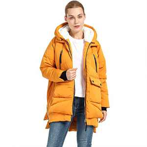 Women's Thickened Down Jacket(YELLOW XL)