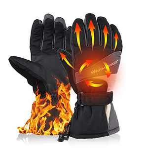 BASHIK RechargeableHeated Gloves for Palm and Back of Hands 3000Mah Battery for Motorcycle/Hunting/Ski/Hiking/Camping/Fishing/Skating/Winter Outdoor Sprots/Cold Outdoor Job … (Gray, XL)