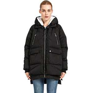 Women's Thickened Down Jacket(Black L)