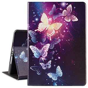 MARINAVIDA iPad 10.2 Case iPad 7th Generation 2019 Case, iPad 8th Generation 2020 Case, Full Protective Leather Case, Auto Sleep/Wake, Multi-Angle Smart Stand Cover for iPad 7th/8th Gen(Butterfly)