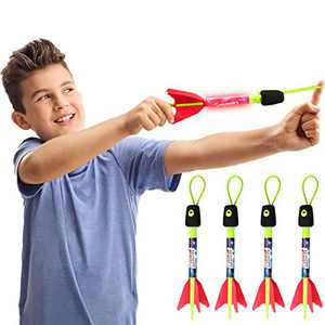 ZAYOR Outdoor Toys for 3 4 5 6 7 8 Year Old Boys Finger Rockets LED Foam Finger Rocket Launchers Outside Toys Party Favors Birthday Gifts for Kids Ages 3-8,8+