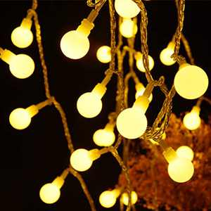 Fairy Globe String Lights 60 LED USB Power 19.7ft Ball String Lights with Remote control, Waterproof Ball String Lights for Bedroom, Indoor Outdoor, Party, Wedding, Christmas, Garden Decor, Warm White