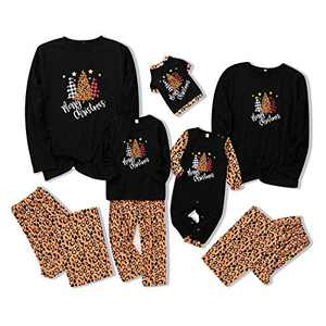 SOONHUA Leopard Pattern Pajama Comfortable Soft for Mom Pajamas Clothes Set M