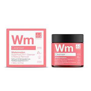 Dr Botanicals Natural Skincare Watermelon Superfood 2-in-1 Cleanser & Makeup Remover for Dry & Oily Skin 60ml/2.02 fl oz
