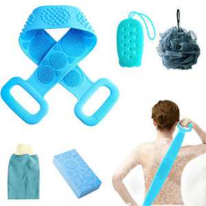 Silicone Back Scrubber For Shower Set 5 In 1,Scrubbing Glove,Silicone Bath Sponge,Sponge Scrubber For Shower Exfoliating Scrubber Set Shower