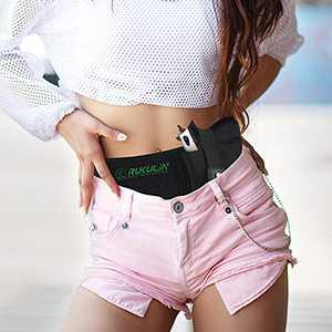 Rukulin Concealed Carry Holster Waist Breathable Right Hand for Men and Women Glock 19, 17, 42, 43, P238, Ruger LCP, Similar Sized Guns and Dagger