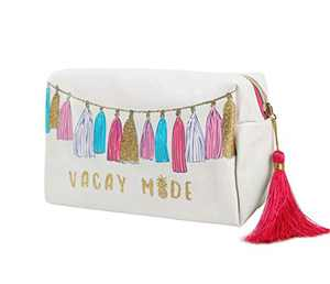 Cosmetic Bag for Women, WOOMADA Fashionable Roomy Makeup Bags-VACAY MADE