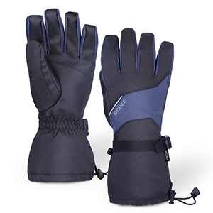 BRIGENIUS Ski & Snow Gloves, Waterproof Winter Gloves for Men Women, Touch Screen Glove Cold Weather Warm Gloves for Snow Ski Driving Cycling Running