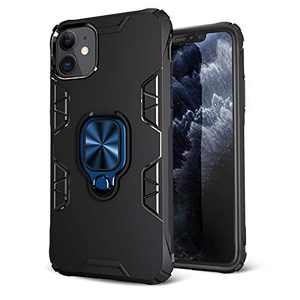 iPhone 11 Case, Maxuni iPhone 11 Protective Case with Ring Kickstand, Drop Tested Anti-Scratch Impact-Resistant Bumpers Cover with Stand Metal Plate to Magnetic Car Mount(6.1 inch)…