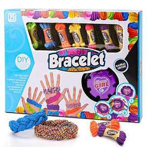 Agltp Braided Bracelet Making Kit for Girls, Multicolor DIY Making Kit, Braided Arts and Crafts DIY Making Kit for Kids Ages 5 -12