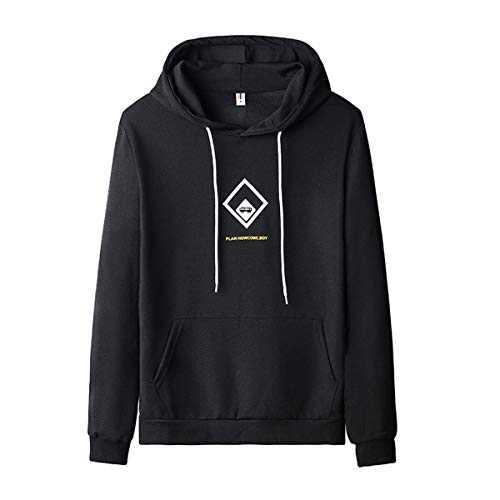 Ophestin Men's Lightweight Hoodie Casual Sweatshirts Long Sleeves for Men(Black,4XL)