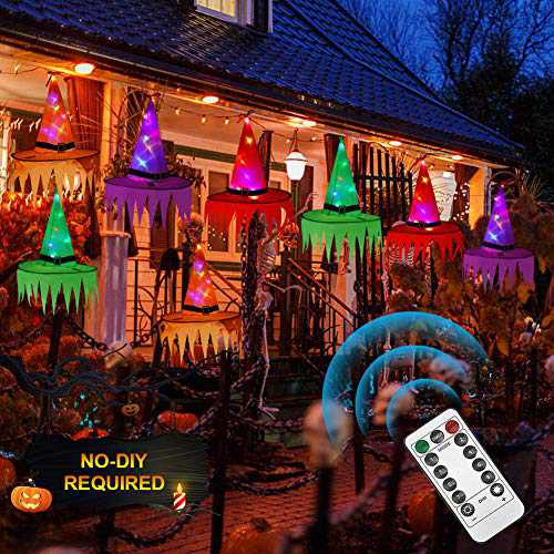 Halloween Witch Decorations Witch Hat String Lights, Halloween Witch Hat Decor 33ft 8 Lighting Modes Christmas Halloween Decorations Outdoor Indoor, Garden, Patio, Yard