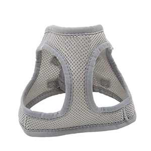Dog Harness,Kitten and Puppy Universal Harness with Leash Set, Adjustable Reflective Soft Mesh Corduroy Small Dog Harnesses Outdoor Vest for Dogs No-Choke Easy Control(Grey,M)