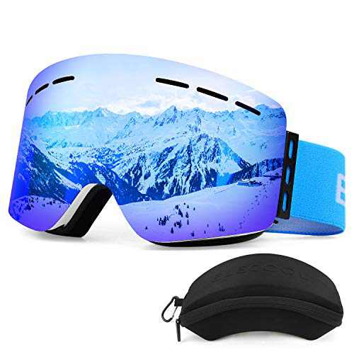 ELECOOL Ski Goggles with Interchangeable,Magnet Lens Cylindrical Design