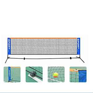 lianth Portable Tennis Net with Frame for Children Height 2.82ft Length 6m(19.68feet) Movable Kid's Tennis Trainning Accessories (19.68)