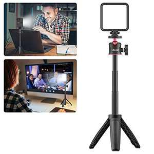 VIJIM Video Conference Lighting Kit,Zoom Lighting for Computer,Laptop Light for Video Conferencing with Tripod Stand, MacBook Lamp for Zoom Meetings/Video Calls/Remote Working/Live Streaming