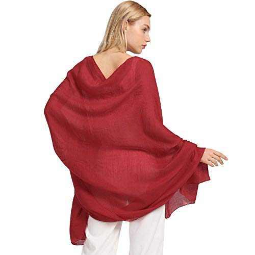 AMELIE GALANTI Cotton Scarf for Women Lightweight Shawl Soft Scarf Fashion Solid Scarf Wrap Shawl (red2)