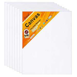Canvas Boards 11x14 Inches Set of 9, Canvas Panels 3mm Thickness for Oil & Acrylic Painting