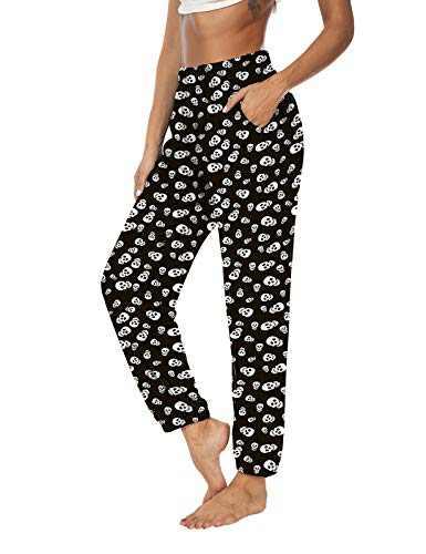 KEEPBEAUTY Womens Active Yoga Sweatpants Loose Workout Joggers Pants Comfy Lounge Pants with Pockets Skull XL