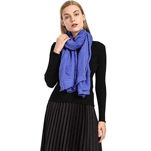 AMELIE GALANTI Cotton Scarf for Women Lightweight Shawl Soft Scarf Fashion Solid Scarf Wrap Shawl (Navy blue2)