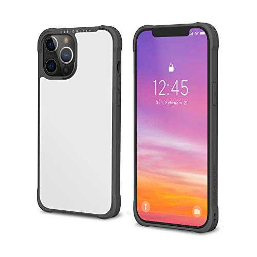 Design Skin Phoenix Pro Bumper Designed for iPhone 12 Pro Max Case (2020) Slim Shock Absorbing Corner Cushions Heavy Duty Protective Cover Compatible with iPhone 12 Pro Max Case (6.7 Inch) - White