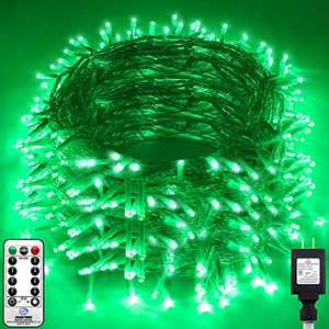 KNONEW LED String Light 1000 LED 394ft Long Christmas Lights with 8 Modes & Timer, Indoor Outdoor Plug in Fairy Lights for Home Christmas Wedding Party Room Yard Tree Holiday Decorations (Green)