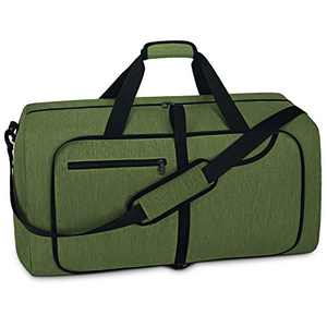 Travel Duffel Bag Foldable Weekender Overnight Bags for Men Women Waterproof Sports Gym Bag with Shoes Compartment Holdall Weekend Bag