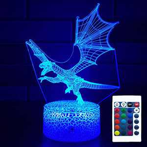 FlyonSea Kids Dragon Gifts for Boys,Dragon Light with Touch&RemoteControl16ColorChanging Dimmable Dragon Lamp,Dragon Toys for Kids