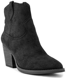 Sugar Women's Tarah Western Winter Ankle Bootie 9.5 Black