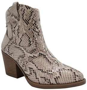 Sugar Women's Tarah Western Winter Ankle Bootie 6.5 Snake
