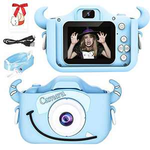 Bufims Kids Digital Camera,Kids Video Camera ,Children Selfie Camera, 20.0MP Digital Dual Camera with 2.0 Inch IPS Kids Camera,Best Birthday Gifts for Grils Age 3-12,Free 32GB SD Card, Blue