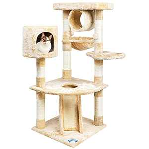 TOYSBOOM Cat Play Tree with Scratching Posts, Multi Level Cat Play House with Hammock Condo Platform, Cat Activity Center Cat Tower and Tree for Kitten and Cats, 47 inch