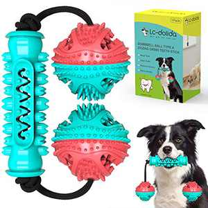 LC-dolida Puppy Chew Toys, Puppy Toys for Teething Small Dogs, Teething Toys for Puppies, 3-in-1 Detachable Dog Chew Toys Puzzle Rope Dispensing Ball for Large Medium Small Breed Dogs