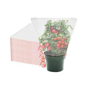 ENPOINT Fruit Covers Bags, 20PCS 20x20 Inch Sturdy Fruit Protection Bags with Drawstring, Durable Mesh Wrap for Protecting Vegetables Fruit Flowers